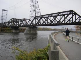 The aging Livingston Avenue Bridge will soon need to be rebuilt in order to accommodate rail traffic. Officials on both sides of the Hudson would like its pedestrian and bike pathway to be restored in the new plans.