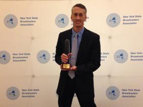 "Matt with NYN's 2014 New York State Broadcasters Award for ""Best Public Affairs Program."""