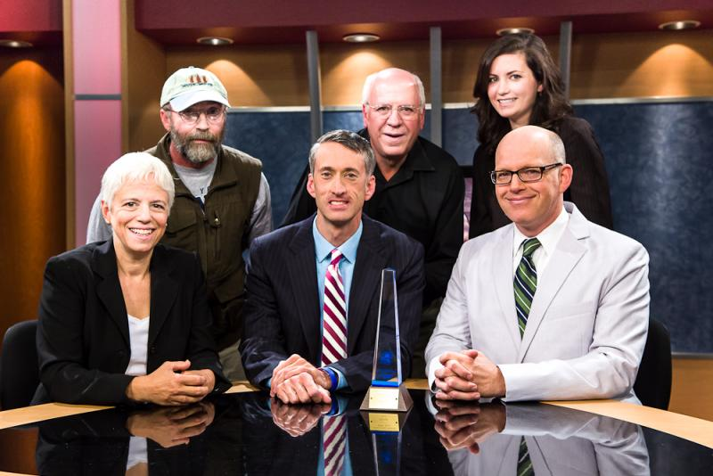 The New York NOW team (from left: Karen DeWitt, Mike Melita, Matt Ryan, Dave Povero, Marie Cusick, Casey Seiler)