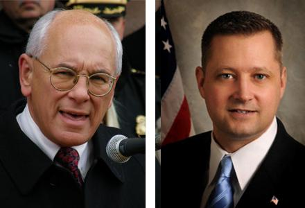 Paul Tonko (left) and Bob Dieterich running for the 20th Congressional District seat.