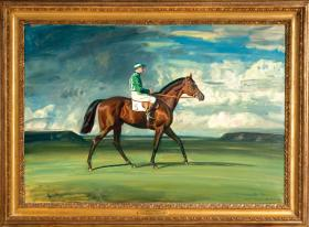 """Blue Prince II"" by Sir Alfred J. Munnings"