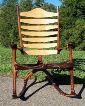 Bonn Zero G custom rocking chair by Chris Krauskopf
