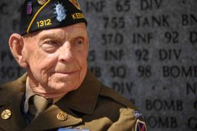 Charlie Smith, a World War II veteran of the 10th Mountain Division's 85th Infantry Regiment