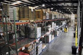 The God's Pantry warehouse In Lexington (KY). The food bank, which also has warehouses in Winchester and Prestonsburg, distributes food to the needy in 50 counties of central and eastern Kentucky.