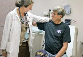 Dr. Alexis Harrison and her patient, Air Force Veteran Larry Kerr