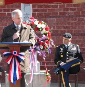 Sen. Corker delivers remarks at the Hardeman County Veterans Day Ceremony in Middleton on November 11, 2011.