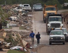 The Whispering Oaks area of Moore, Oklahoma May 27, 2013. The Moore area was struck by a F5 tornado on May 20, 2013.