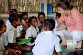 MTSU's Shelley Thomas in India