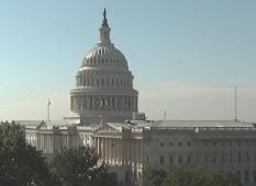 A webcam shot of the U.S. Capital building taken Thursday morning.