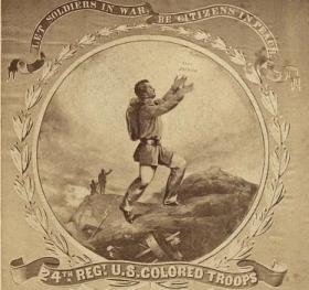 24th Regt. U.S. Colored Troops. Let Soldiers in War, Be Citizens in Peace