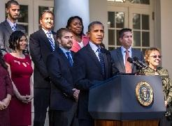 President Barack Obama delivers remarks on the Affordable Care Act during a statement in the Rose Garden of the White House, Oct. 21, 2013.