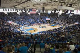 The MTSU-Murfreesboro City Schools Education Day crowd of 10,028 fans attending the Lady Raiders 68-32 victory against visiting Kennesaw (Ga.) State University Dec. 12 in Murphy Center is the fourth largest in program history. (MTSU photo by Andy Heidt)