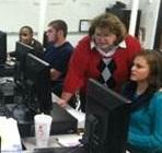 Children taking remedial math using the SAILS program initiated by Chattanooga State Community College.