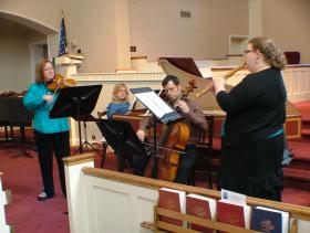Four Members of Music City Baroque