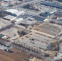 Aerial view of the Sulpher Dell construction site.