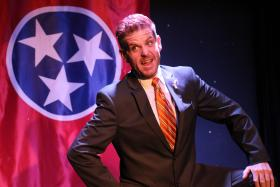 """Actor Chad Webb portrays the title character in """"Casey Stampfield: the Musical."""""""