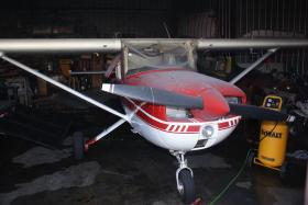 Cessna airplane damaged by fire Friday morning at the Murfreesboro Airport.