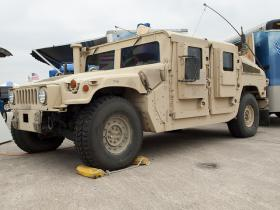 Tennessee law enforcement agencies have received $121 million worth of surplus military hardware like this Humvee armored vehicle.