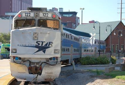 The Music City Star provides commuter service between Nashville and Lebanon.