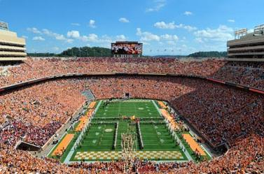Game day at the University of Tennessee's Neyland Stadium.