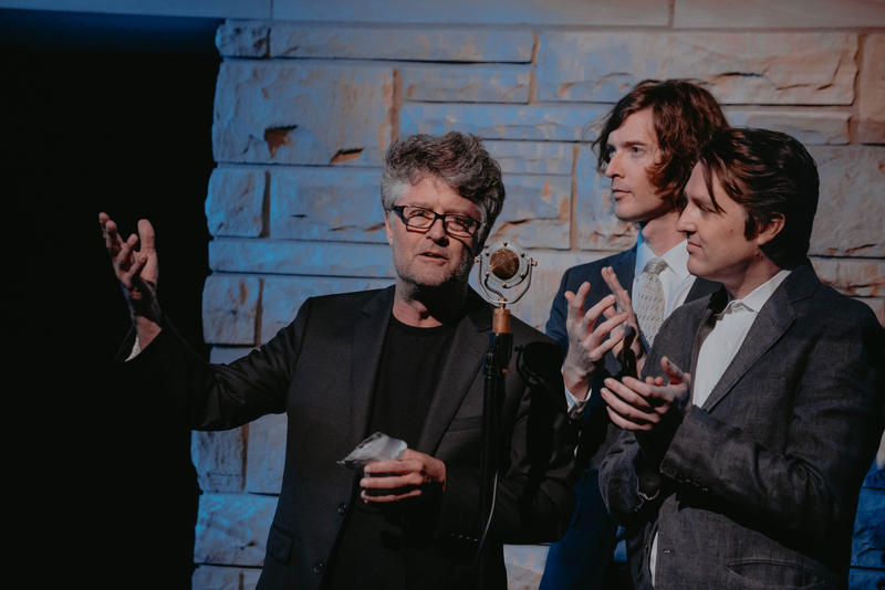 Americana Music Association Executive Director Jed Hilly with the Milk Carton Kids, Joey Ryan and Kenneth Pattengale