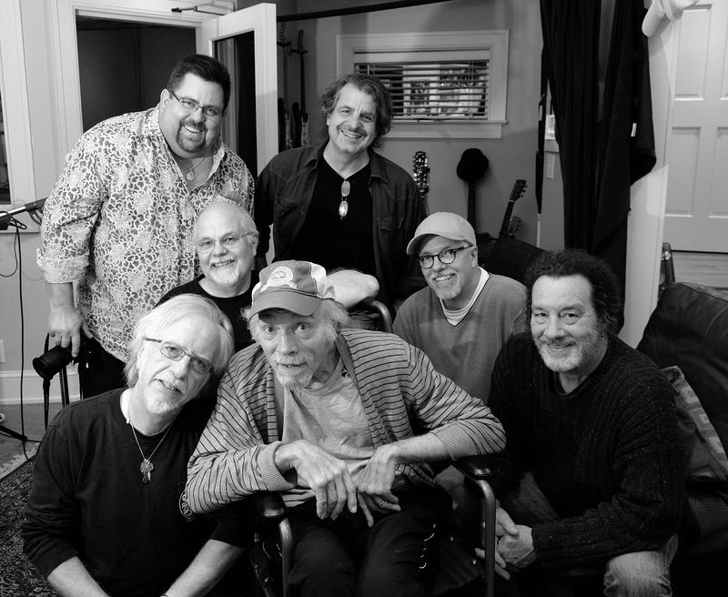 Jimmy Nalls, front row center, surrounded by some of the musicians and producers who helped bring The Jimmy Nalls Project to fruition.