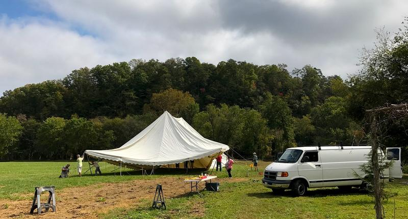The tents and stage are going up for Hoedown on the Harpeth, set for Oct 13-14.
