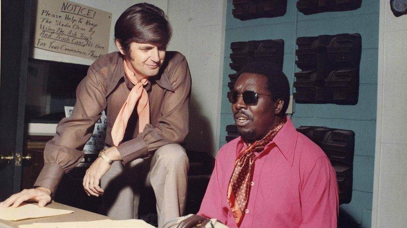 Rick Hall with R&B artist Clarence Carter, depicted in the 2013 documentary 'Muscle Shoals'