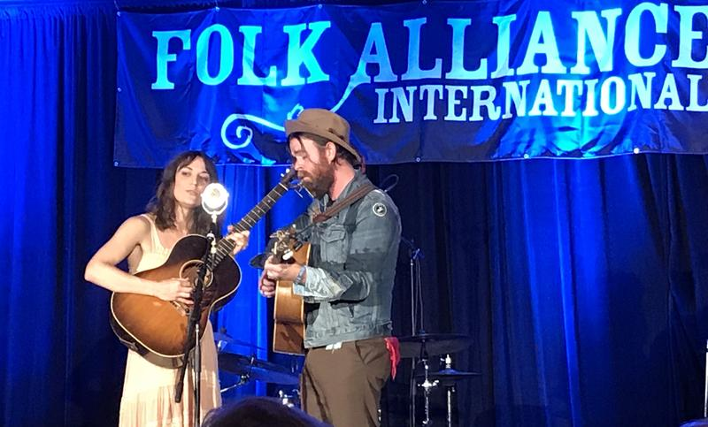 Songwriters Amber Rubarth and Joe Purdy defined the acoustic troubadour side of today's folk scene with a performance and a screening of their new movie American Folk at Folk Alliance International 2018.