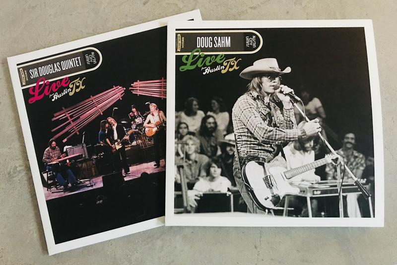 Two first-time vinyl releases of Doug Sahm Live from Austin, TX will be released April 13 by New West Records.