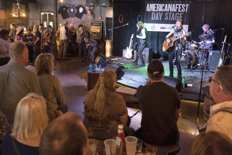 The Accidentals helped launch the official AmericanaFest Day Stage Tuesday afternoon.