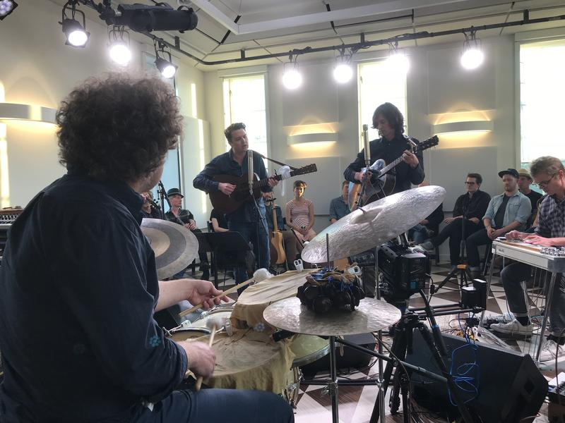 The Milk Carton Kids record live audio and video at Layman Drug Co.