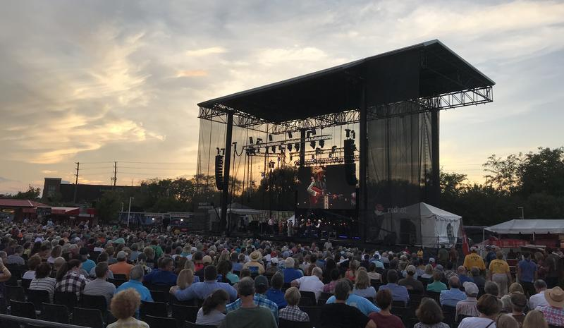 Raleigh band Chatham County Line played a sundown set on Saturday for a home town crowd at 2018's World of Bluegrass.