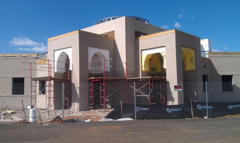 The mosque being built by the Islamic Center of Murfreesboro on Veals Road