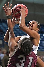 All-Sun Belt Second Team pick Icelyn Elie scored a career-high 29 points in Tuesday's Sun Belt Championship loss to UALR.