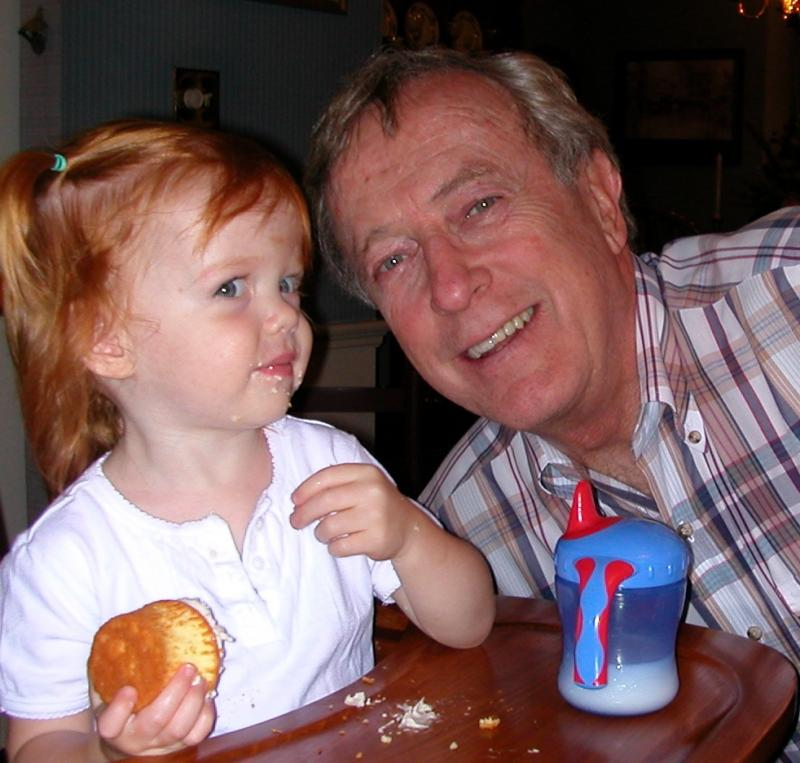 Bob Marvin with his granddaughter Alex