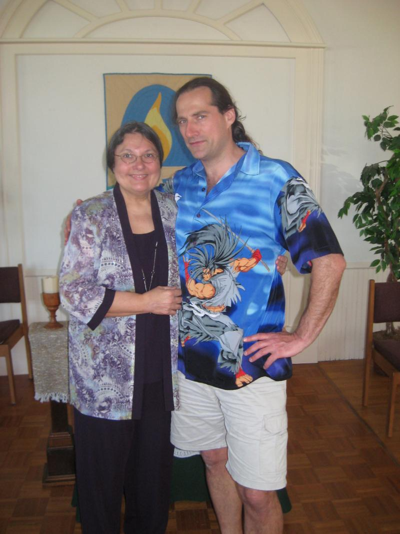 Eric LaFreniere with his mother
