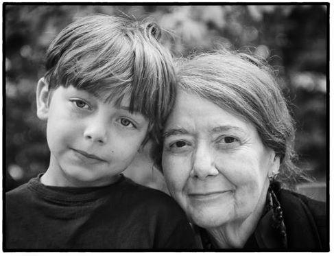 Pam Simpson and her grandchild, Henry