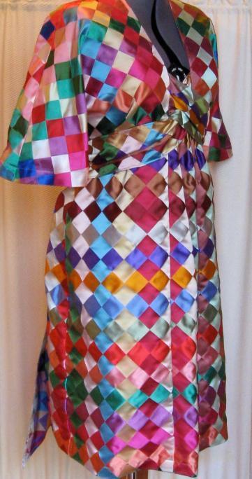 """Colorfest"" silk dress designed by Kathleen Temple"