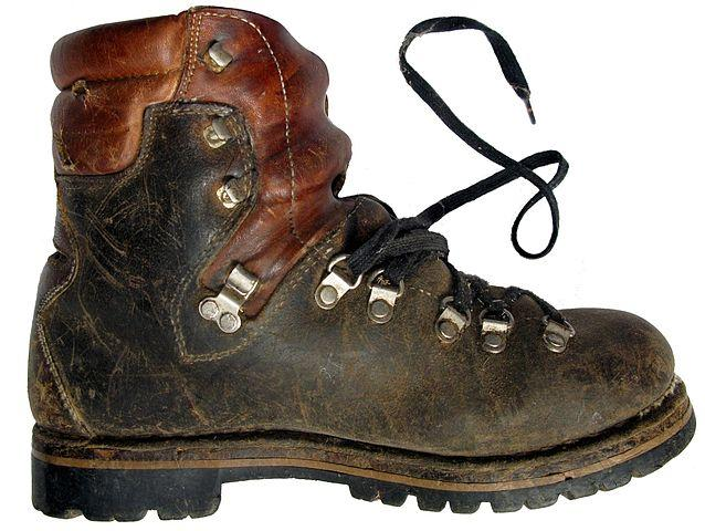 A hiking boot. Image credit: Wikipedia user Joadl.