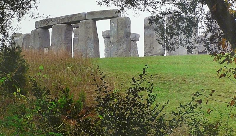 Mark Cline. Photo of Cline's FoamHenge.  Image: WMRA News TW.