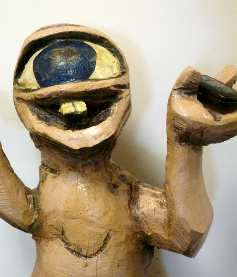 Richardson. Painted wood sculpture.  Image: WMRA News TW.