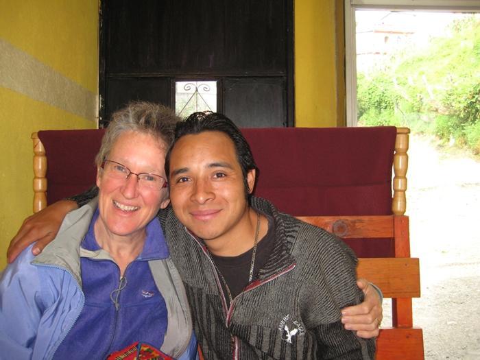 Beth with Bartolo Lopez Garcia. Photo credit: Tom Cogill.