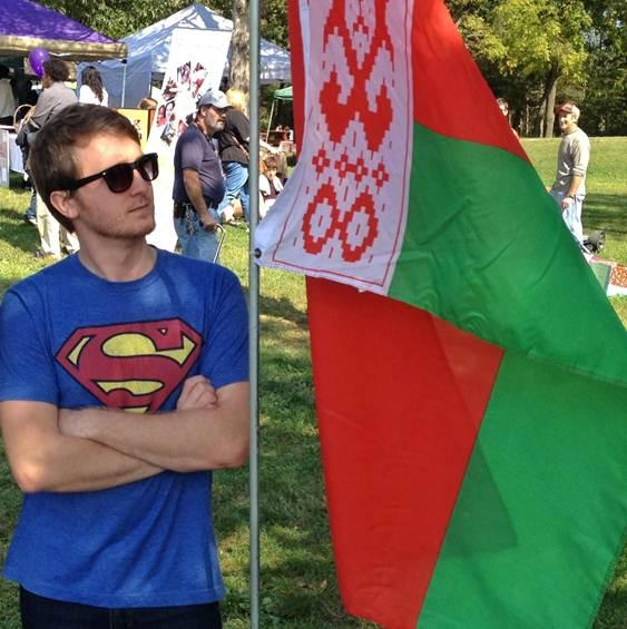 Art with a flag of Belarus at the Harrisonburg International Festival