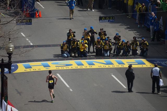 Finish line before the bombing. Photo credit: Flickr user Hahatango