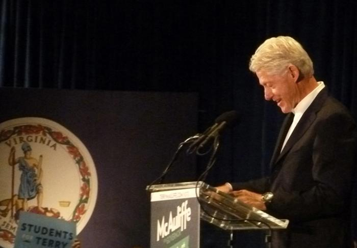 Former President Bill Clinton at JMU
