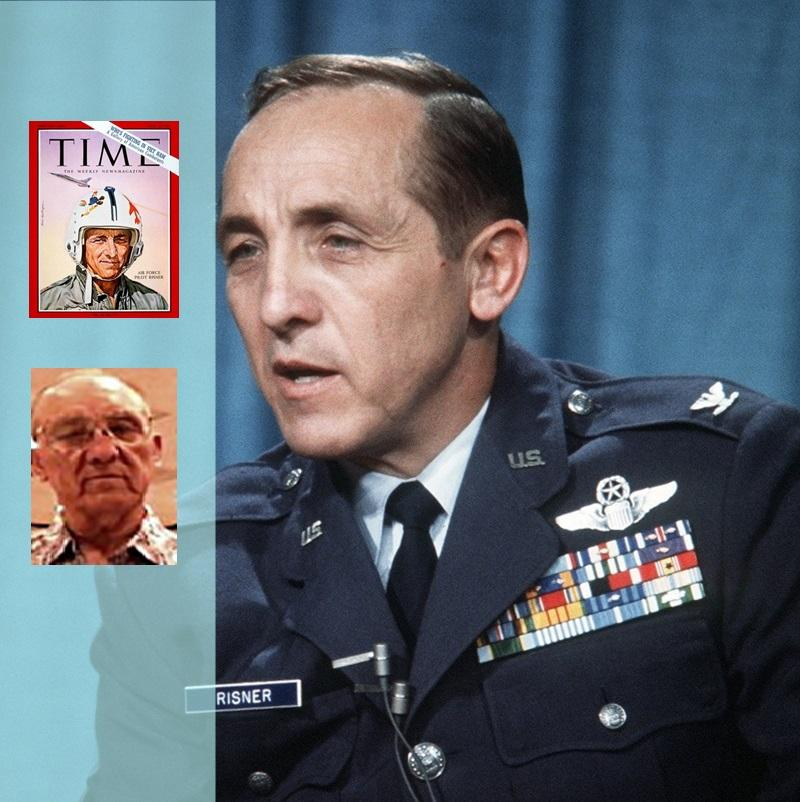 Risner in early 1965 (Time magazine cover) , in 1973 (USAF photo), and in the 2010s (POWnetwork.org). Composite: WMRA News (tw)