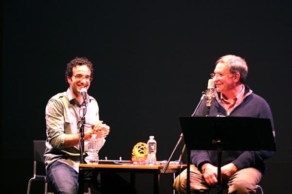 Jad Abumrad and Robert Krulwich on stage