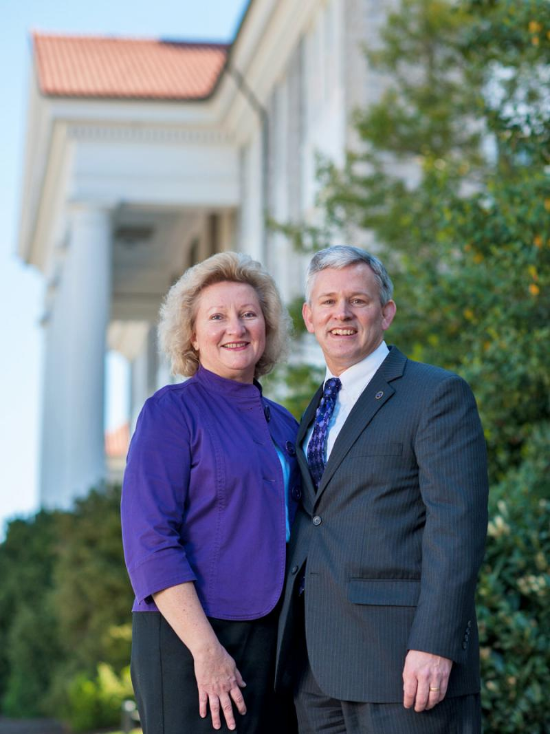 Mary Ann Alger with husband and JMU's 6th President, Jonathan R. Alger. Photo credit: James Madison University