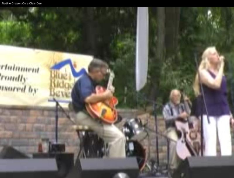 Nadine performing in 2011 in Staunton at the Shenandoah Wine & Jazz Festival (Image source: Still from courtesy video, NadineChase.com)
